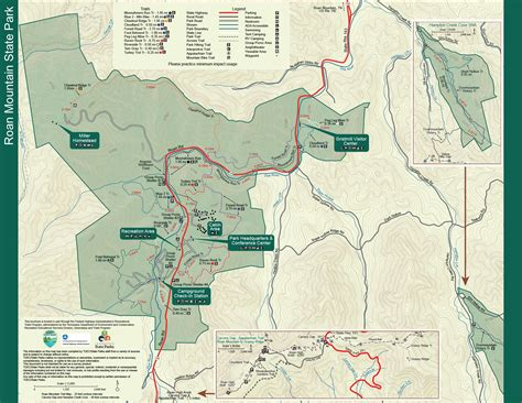 Cabin Park Map by Roan Mountain State Park Tennessee State Parks