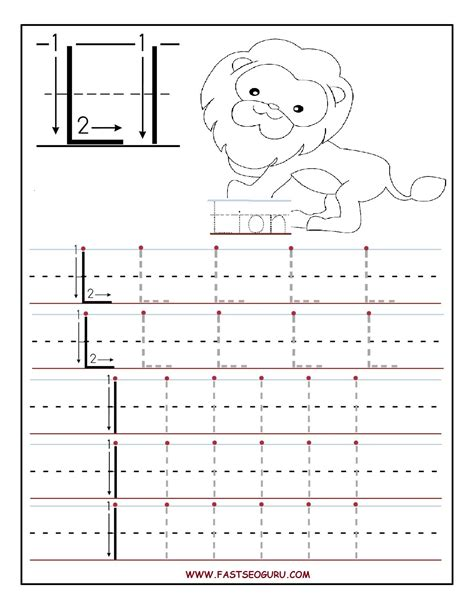 printable tracing letters for preschoolers printable letter l tracing worksheets for preschool