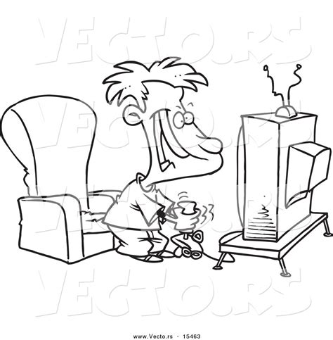 cartoon coloring pages games person playing video games clipart 16