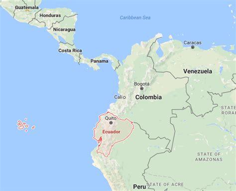 map  ecuador  surrounding countries  travel
