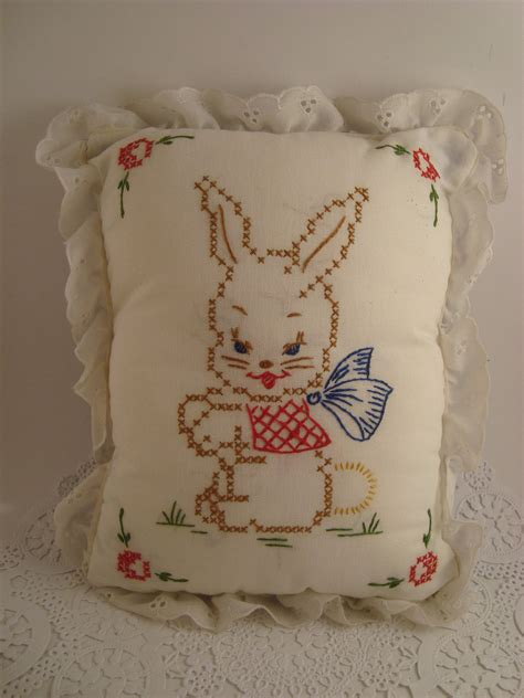 vintage baby pillow miniature crib pillow by babybinksvintage