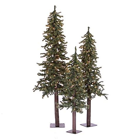 buy vickerman 3 piece 2 3 4 foot natural alpine pre lit
