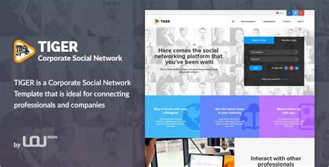 15 Social Media Website Themes Free Premium Templates Social Network Website Design Template