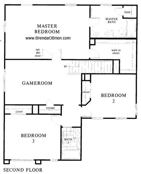 Upstairs Floor Plans | st andrews at vistoso 2121 model upstairs