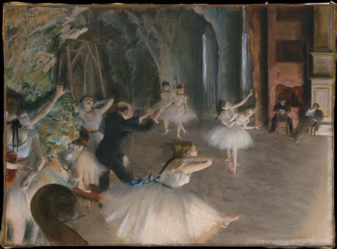 C O Painting by Edgar Degas The Rehearsal Onstage The Metropolitan