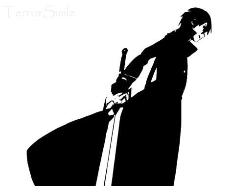 black and white wallpaper online kirito sao by terrorsmile on deviantart