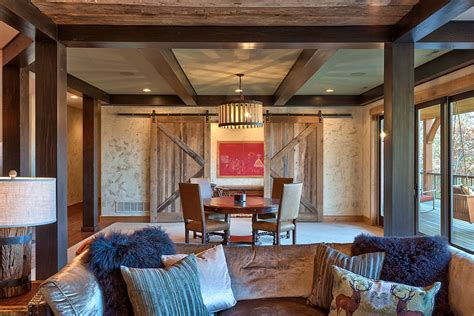 barn living room rustic living room with sliding barn doors decoist