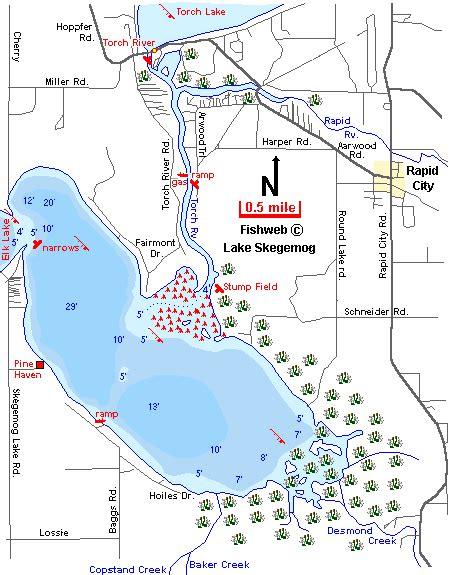 public boat launch torch lake elk lake to torch lake via torch river in northern mi