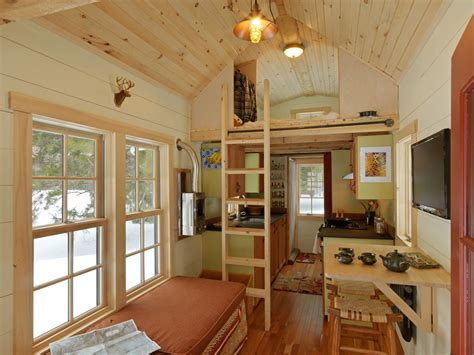 tiny house inside ethan waldman s tiny house includes everything he needs in