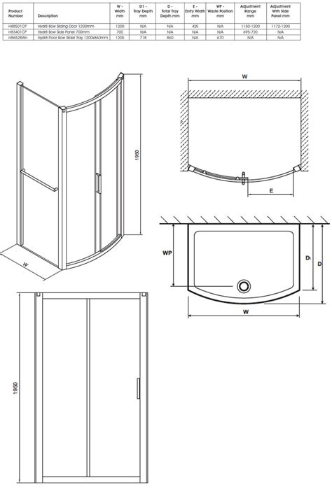 how to draw a sliding door in a floor plan twyford hydr8 bow sliding shower enclosure door 1200mm
