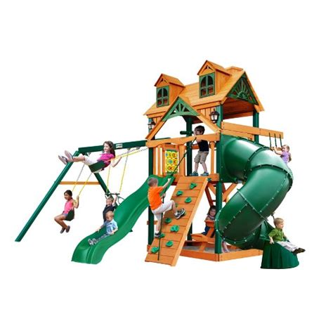 extreme swing sets gorilla playsets malibu extreme swing set target