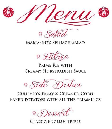 menu ideas for a dinner my dinner menu including foolproof prime rib