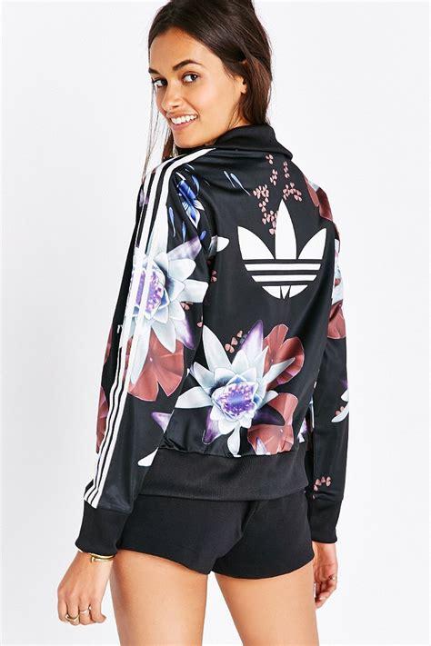 Jaket Adidas Firebirds Navy Pink adidas originals lotus print track jacket lyst