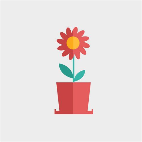 free vector of the day 807 flat flower