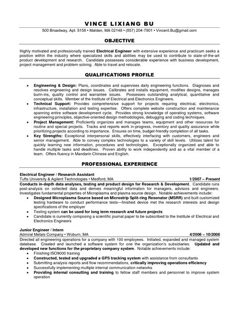 Licensed Mechanical Engineer Sle Resume by Engineering Resume Builder 28 Images Licensed Mechanical Engineer Sle Resume 5 I Want