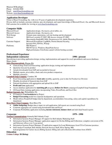 Resume Format For Freshers In Ms Word by Resume Format Free In Ms Word 2007 Resume