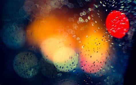 colorful rain wallpaper bokeh drops rain lights window glass water color wallpaper