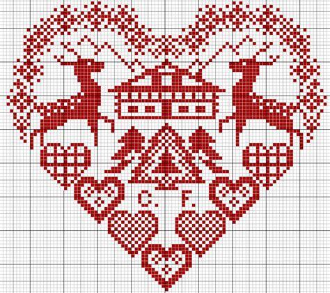 pattern maker en español gratis schema punto croce cuoricini cross stitch pinterest