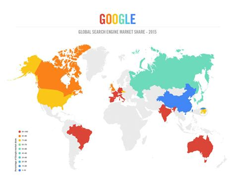 Worldwide Search Search Engine Infographic 2015 The Countries That Stand Between And Total