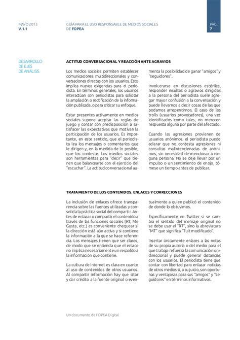 Tas Impor E M O R Y Zestovia 01emo0961 1 gu 237 a de uso responsable de redes sociales para periodistas fopea