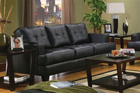 coaster samuel sofa samuel contemporary black leather tufted sofa coaster 501681