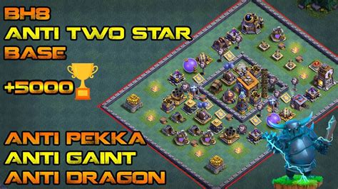 layout coc anti giant builder hall 8 bh8 anti two star base design anti super