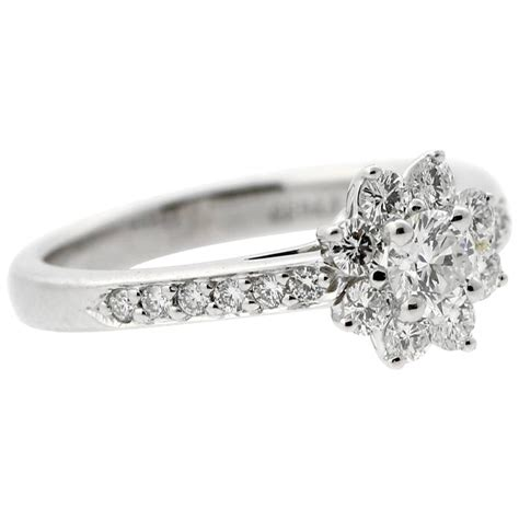 and co platinum flower ring for sale at