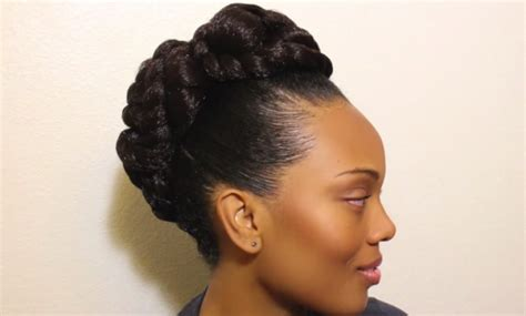 transitional hairstyles transitioning to natural hair updo hairstyle