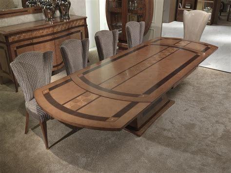tavoli in legno per ristorante tavolo allungabile in legno intarsiato per ristoranti