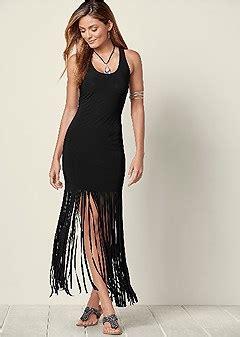 Bright Fringe Maxi Dress - maxi dresses dresses venus