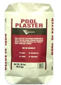Pool plaster mix pool plaster