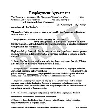 Create An Employment Contract In Minutes Legaltemplates Florida Employment Contract Template