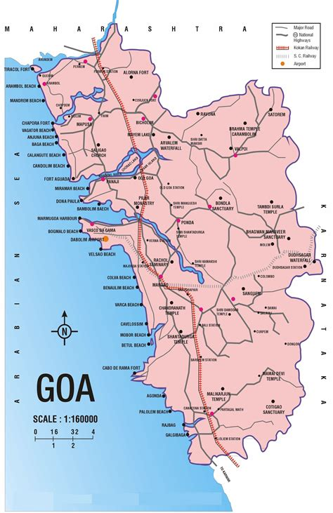 Kerala Home Design Gallery by Map Goa Beaches And Other Tourists Spots Maps And