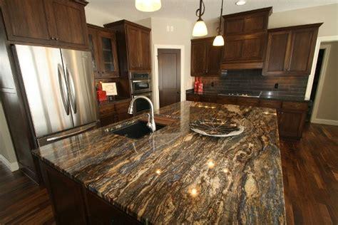 walnut kitchen cabinets granite countertops ldk kitchen with cinderella blue granite island top