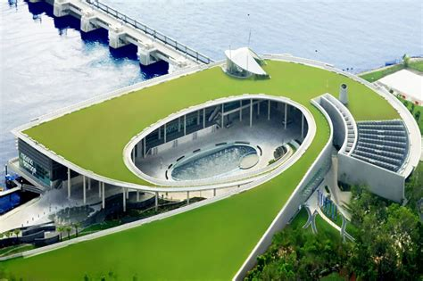 David Lee Architect Singapore S Green Roofed Marina Barrage Controls Flooding