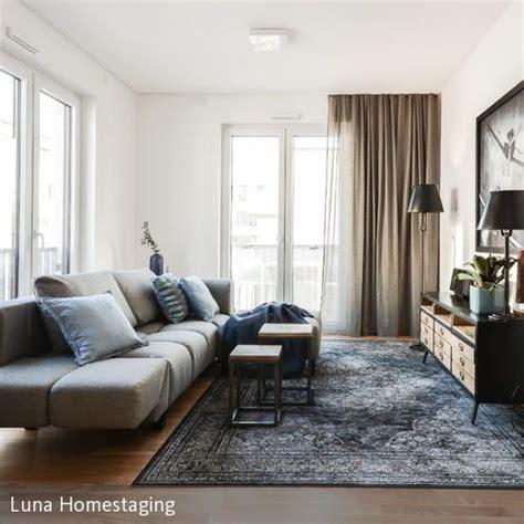 teppiche industrial style wohnzimmer industrial style graues sofa sofa und teppiche