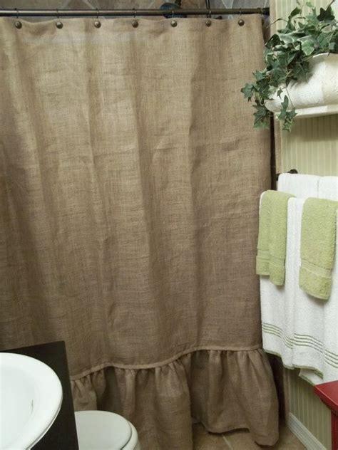 ruffle bottom curtains burlap ruffle shower curtain curtain menzilperde net