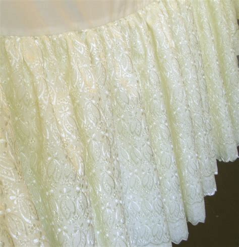 lace bed skirt ivory eyelet lace bedskirt or daybed bedskirt regular or extra