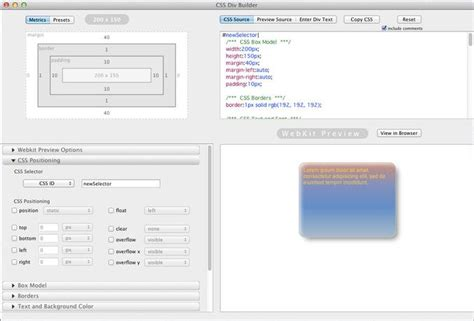 css for div css div builder mac