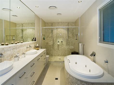 modern bathroom design with spa bath using marble bathroom photo 343159
