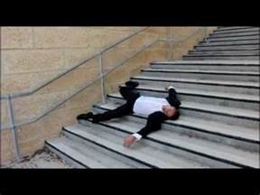 I Fell From Stairs by Stair Fall Down Three Flights Of Stairs Youtube