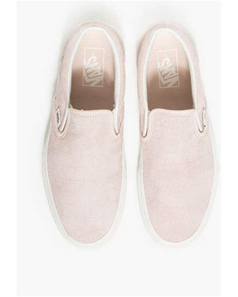 Slip On Pink vans classics and pink on