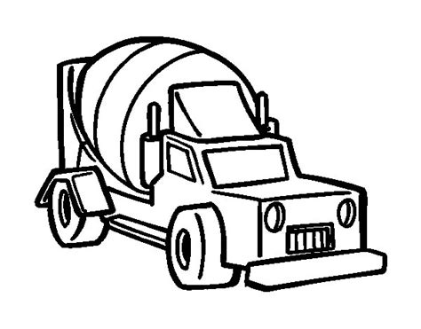 mixer truck coloring page concrete truck coloring pages