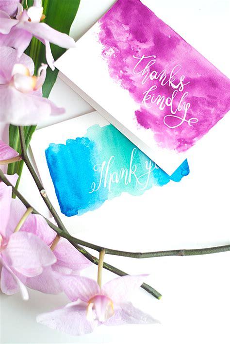 watercolour cards diy diy watercolor thank you cards design sponge