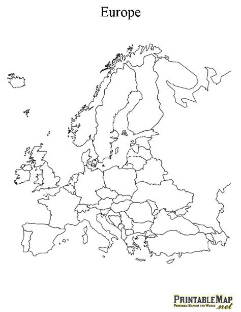printable blank europe map 6 best images of printable map of europe printable blank