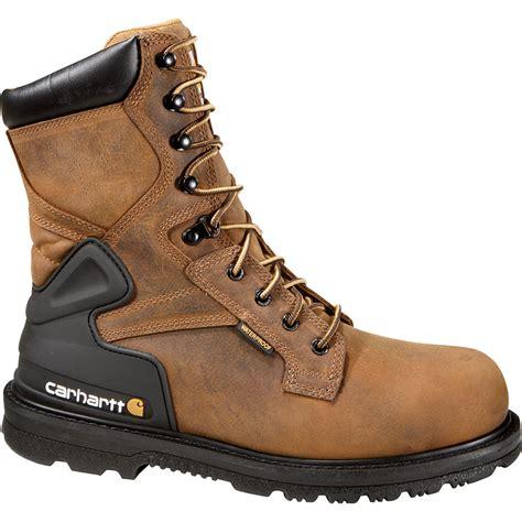 carhartt 8in waterproof steel toe work boots bison