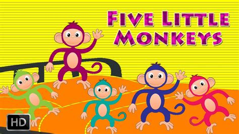 five little monkeys jumping 0547510756 five little monkeys jumping on the bed nursery rhymes popular kids songs youtube