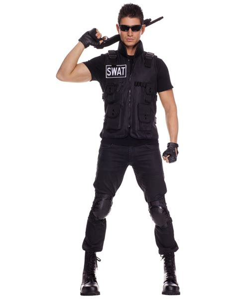 swat swat police vest  costume accessory