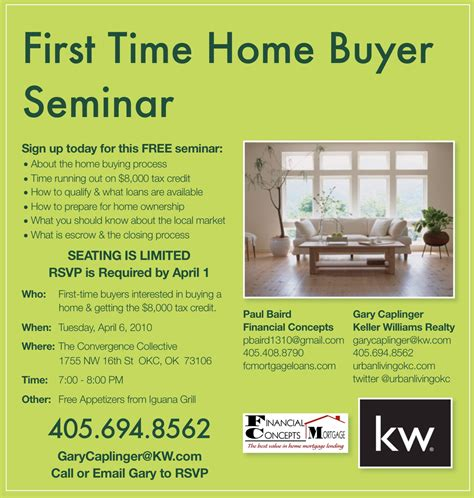 time home buyer seminar flyer living okc