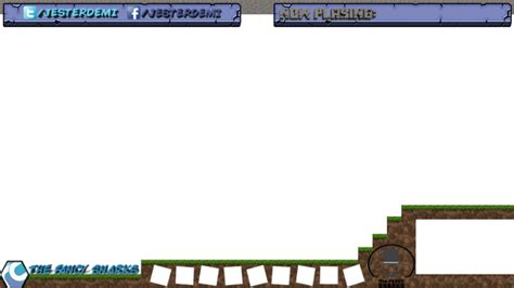 hitbox template design a minecraft layover for twitch or hitbox fiverr